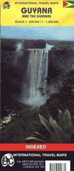 Guyana térkép - ITM