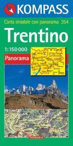 Trentino panorámatérkép - Kompass AK 354