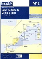 Cabo de Gata to Denia & Ibiza Chart M12 - Imray