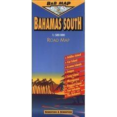 Bahama-szigetek (déli-rész) térkép - B & B