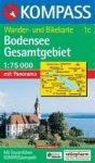 Bodensee (teljes) turistatérkép (WK 1c) - Kompass