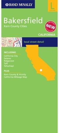 Bakersfield (Kalifornia) várostérkép - Rand McNally