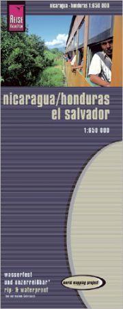 Nicaragua, Honduras, Salvador térkép - Reise Know-How