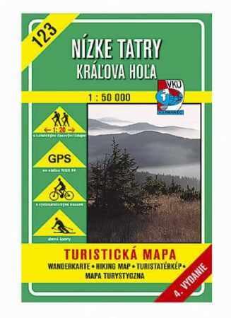 Low Tatra Mountains, Kráľova hoľa (HM 123), hiking map - VKÚ