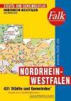 Észak-Rajna-Vesztfália (és Osnabrück) minden városa atlasz - Falk
