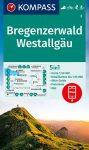 Bregenzerwald, Westallgäu turistatérkép (WK 2) - Kompass