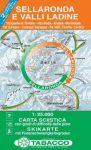 Sellaronda e Valli Ladine térkép - Tabacco
