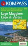 Lago Maggiore, Lago di Varese turistatérkép (WK 90) - Kompass