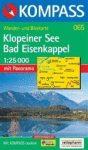 Klopeiner See, Bad Eisenkappel turistatérkép (WK 065) - Kompass