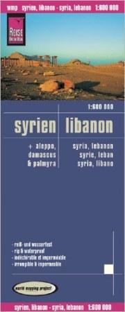 Szíria, Libanon térkép - Reise Know-How