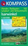 Isarwinkel turistatérkép (WK 182) - Kompass