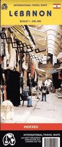 Libanon térkép - ITM
