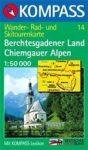 Berchtesgadener Land, Chiemgauer Alpen turistatérkép (WK 14) - Kompass