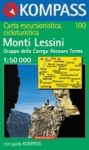 Monti Lessini turistatérkép (WK 100) - Kompass