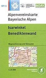Isarwinkel, Benediktenwand - Alpenvereinskarte BY11