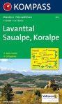 Lavanttal, Saualpe, Koralpe turistatérkép (WK 219) - Kompass