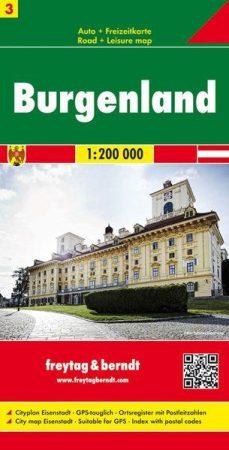 Burgenland autótérkép - Freytag-Berndt