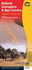 Ballarat - Grampians - Spa Country térkép - UBD