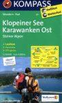 Klopeiner See, Karavankák (kelet) turistatérkép (WK 65) - Kompass
