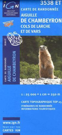 Aiguille de Chambeyron / Cols de Larche et de Vars - IGN 3538ET