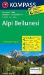 Alpi Bellunesi turistatérkép (WK 77) - Kompass