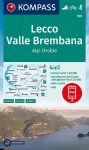 Lecco, Valle Brembana turistatérkép (WK 105) - Kompass