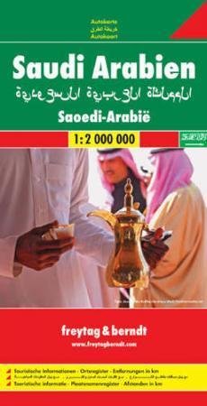 Szaúd-Arábia autótérkép - Freytag-Berndt