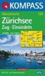 Zürichi-tó, Zug, Einsiedeln turistatérkép (WK 124) - Kompass