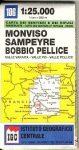 M. Viso - Sampeyre - Bobbio Pellice térkép (No 106) - IGC
