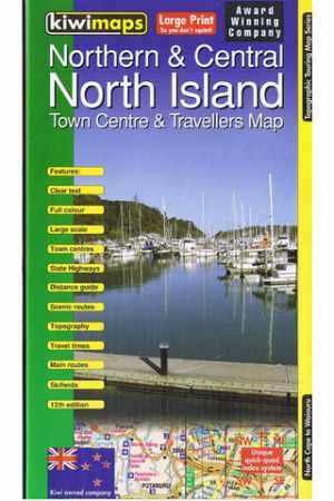 North Island Northern and Central térkép - Kiwimaps
