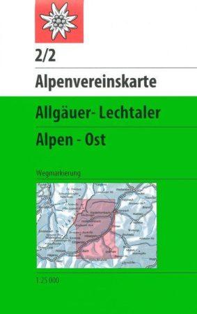 Allgäuer- Lechtaler Alpen, Ost - Alpenfereinskarte 2/2