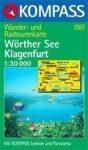 Wörthersee, Klagenfurt turistatérkép (WK 061) - Kompass