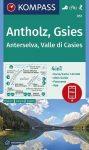 Antholz, Gsies turistatérkép (WK 057) - Kompass