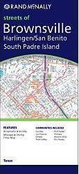 Brownsville, Harlingen, San Benito, South Padre Island, TX térkép - Rand McNally