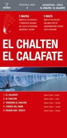 Southern Patagonia: El Chaten - El Calafate térkép (No4.) - de Dios Editores