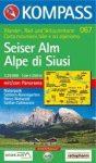 Alpe di Siusi turistatérkép (WK 067) - Kompass