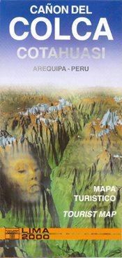 Colca Canyon, Cotahuasi Canyon térkép - Editorial Lima 2000