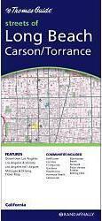 Long Beach, Carson & Torrance (Kalifornia) térkép - Rand McNally