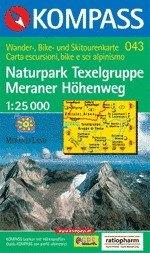 Gruppo di Tessa, Merano turistatérkép (WK 043) - Kompass