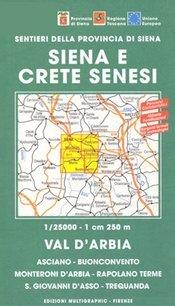 Crete Senesi 1 - Val d'Arbia térkép (No 517) - Multigraphic