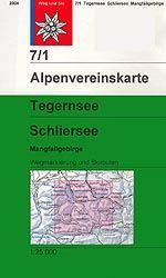 Tegernsee, Schliersee, Mangfallgebirge - Alpenvereinskarte 7/1