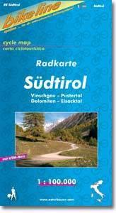 Südtirol kerékpártérkép - Esterbauer
