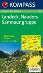 Landeck, Nauders, Samnaungruppe turistatérkép (WK 42) - Kompass
