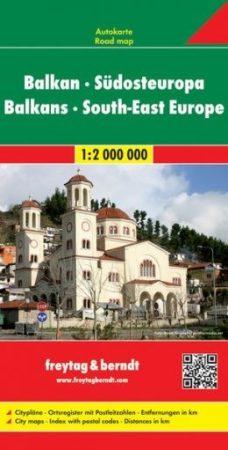 Balkán, Délkelet-Európa autótérkép - Freytag-Berndt