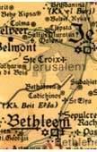 Jeruzsálemi Királyság 1099-1291 falitérkép - Ha-Merkaz