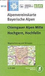 Chiemgauer Alpen, Mitte; Hochgern, Hochfelln - Alpenvereinstkarte BY18