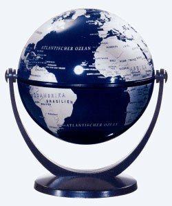 Csodagömb (10 cm) - ezüst földgömb, kék talp 881080