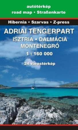 Adriai tengerpart térkép - Szarvas & Hibernia & Z-Press