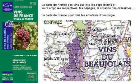 Franciaország bortérképe - IGN 915