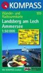 Landsberg am Lech, Ammersee turistatérkép (WK 189) - Kompass